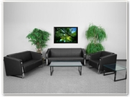 Flash Furniture Gallant Reception Series in Black