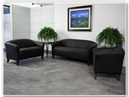 Flash Furniture Imperial Reception Series in Black