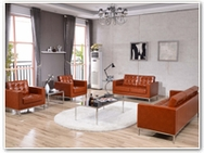 Flash Furniture Lacey Reception Series in Cognac