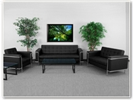 Flash Furniture Lesley Reception Series in Black