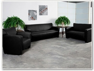 Flash Furniture Majesty Reception Series in Black