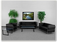 Flash Furniture Regal Reception Series in Black