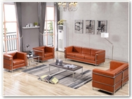 Flash Furniture Regal Reception Series in Cognac