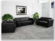 Flash Furniture Trinity Reception Series in Black