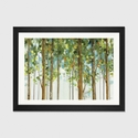Forest Study I Crop by Lisa Audit Artwork on Fine Art Paper with Black Matte Hardwood Frame - 24''W x 16''H x 1''D [WAC755-1PFA-24X16-FM01-ICAN]