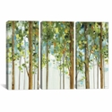 Forest Study I Crop by Lisa Audit Triptych Gallery Wrapped Canvas Artwork - 60''W x 40''H x 1.5''D [WAC755-3PC6-60X40-ICAN]