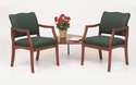 Franklin Series Guest Chairs with Connecting Corner Table [D2857K5-FS-RO]