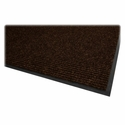 Genuine Joe Dual Rib Carpet Surface - Vinyl Backing - 4'' x 6'' - Chocolate [GJO02401-FS-SP]