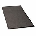 Genuine Joe Indoor -Outdoor Mat - Rubber Cleated Backing - 4' x 6' - Charcoal [GJO59476-SP]