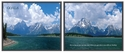 Advantus 30''W x 24''L Framed Panorama Motivational Art Prints Two Pack - Goals with Mountain Range [78165-FS-VF]