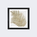 Gold Leaves I by Wellington Studio Artwork on Fine Art Paper with Black Matte Hardwood Frame - 16''W x 16''H x 1''D [WAC3967-1PFA-16X16-FM01-ICAN]