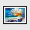 Golden by Scott Naismith Artwork on Fine Art Paper with Black Matte Hardwood Frame - 32''W x 24''H x 1''D [SNH92-1PFA-32X24-FM01-ICAN]