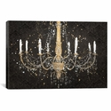 Grand Chandelier Black I by James Wiens Gallery Wrapped Canvas Artwork with Floating Frame - 27''W x 19''H x 1.5''D [WAC3710-1PC6-26X18-FF01-ICAN]