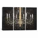 Grand Chandelier Black I by James Wiens Triptych Gallery Wrapped Canvas Artwork - 60''W x 40''H x 1.5''D [WAC3710-3PC6-60X40-ICAN]