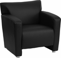 HERCULES Majesty Series Black Leather Chair [222-1-BK-GG]