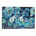 Indigo Flowers I by Silvia Vassileva Gallery Wrapped Canvas Artwork with Floating Frame - 27''W x 19''H x 1.5''D [WAC3294-1PC6-26X18-FF01-ICAN]