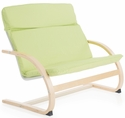 Kiddie Rocker Couch with Removable Cushion and Steam-Bent Plywood Construction - Sage Green - 31.5''W x 19''D x 25''H [G6604K-FS-GUI]