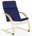 Kiddie Rocker with Removable Cushion and Steam-Bent Plywood Construction - Blue - 16''W x 19''D x 22.5''H [G6340K-FS-GUI]
