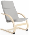 Kiddie Rocker with Removable Cushion and Steam-Bent Plywood Construction - Gray - 16''W x 19''D x 25.5''H [G6621K-FS-GUI]