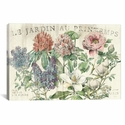 Le Jardin Printemps by Sue Schlabach Gallery Wrapped Canvas Artwork with Floating Frame - 27''W x 19''H x 1.5''D [WAC1859-1PC6-26X18-FF01-ICAN]