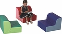 Library Trio Children's Seating - Set of Three [CF322-388-FS-CHF]