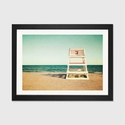 Lifeguard Station no3 by Katherine Gendreau Artwork on Fine Art Paper with Black Matte Hardwood Frame - 32''W x 24''H x 1''D [WAC2455-1PFA-32X24-FM01-ICAN]