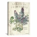 Lilas de Printemps by Sue Schlabach Gallery Wrapped Canvas Artwork with Floating Frame - 19''W x 27''H x 1.5''D [WAC1867-1PC6-26X18-FF01-ICAN]