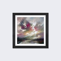 Loch Light II by Scott Naismith Artwork on Fine Art Paper with Black Matte Hardwood Frame - 16''W x 16''H x 1''D [SNH52-1PFA-16X16-FM01-ICAN]