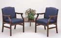 Madison Series Guest Chairs with Connecting Corner Table [M2221G5-FS-RO]