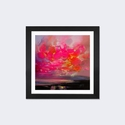 Magenta Plasma by Scott Naismith Artwork on Fine Art Paper with Black Matte Hardwood Frame - 24''W x 24''H x 1''D [SNH93-1PFA-24X24-FM01-ICAN]