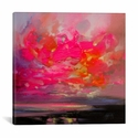 Magenta Plasma by Scott Naismith Gallery Wrapped Canvas Artwork - 26''W x 26''H x 0.75''D [SNH93-1PC3-26X26-ICAN]