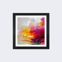 Magenta Shade by Scott Naismith Artwork on Fine Art Paper with Black Matte Hardwood Frame - 16''W x 16''H x 1''D [SNH94-1PFA-16X16-FM01-ICAN]
