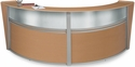 Marque Plexi Double Reception Station - Maple [55312-MPL-MFO]
