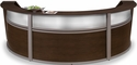 Marque Plexi Triple Reception Station - Walnut [55313-WLNT-MFO]