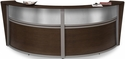 Marque Plexi Double Reception Station - Walnut [55312-WLNT-MFO]