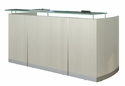 Medina 87.25'' W Reception Station with Frosted Glass Transaction Counter - Textured Sea Salt [MNRSTSS-FS-MAY]