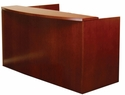 Mira Reception Station with Two Box Box File Pedestals - Medium Cherry on Cherry Veneer [MRSBBMC-FS-MAY]