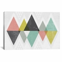 Mod Triangles II by Michael Mullan Gallery Wrapped Canvas Artwork with Floating Frame - 41''W x 27''H x 1.5''D [WAC4318-1PC6-40X26-FF01-ICAN]