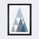 Mod Triangles III A by Michael Mullan Artwork on Fine Art Paper with Black Matte Hardwood Frame - 24''W x 32''H x 1''D [WAC4321-1PFA-32X24-FM01-ICAN]
