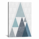 Mod Triangles III A by Michael Mullan Gallery Wrapped Canvas Artwork with Floating Frame - 19''W x 27''H x 1.5''D [WAC4321-1PC6-26X18-FF01-ICAN]