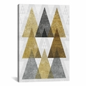 Mod Triangles IV B by Michael Mullan Gallery Wrapped Canvas Artwork with Floating Frame - 19''W x 27''H x 1.5''D [WAC4325-1PC6-26X18-FF01-ICAN]