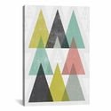 Mod Triangles IV by Michael Mullan Gallery Wrapped Canvas Artwork - 26''W x 40''H x 0.75''D [WAC4323-1PC3-40X26-ICAN]