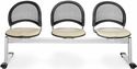 Moon 3-Beam Seating with 3 Fabric Seats - Khaki [333-2209-MFO]