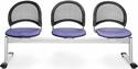 Moon 3-Beam Seating with 3 Fabric Seats - Lavender [333-2202-MFO]