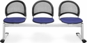 Moon 3-Beam Seating with 3 Fabric Seats - Royal Blue [333-2210-MFO]