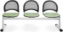 Moon 3-Beam Seating with 3 Fabric Seats - Sage Green [333-2207-MFO]