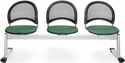 Moon 3-Beam Seating with 3 Fabric Seats - Shamrock Green [333-2201-MFO]