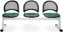 Moon 3-Beam Seating with 3 Vinyl Seats - Teal [333-VAM-602-MFO]