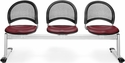 Moon 3-Beam Seating with 3 Vinyl Seats - Wine [333-VAM-603-MFO]