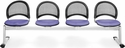 Moon 4-Beam Seating with 4 Fabric Seats - Lavender [334-2202-MFO]